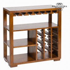 Suport de sticle cu rafturi din lemn - Serious Line Colectare by Bravissima Kitchen