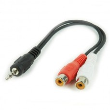 Cablu Audio Jack (3,5 mm) la 2 RCA iggual IGG312841 0,2 m