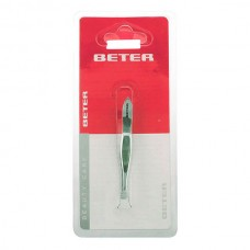 Beter - TWEEZERS with straight tip chrome plated 1 pz