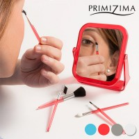 Primizima Mirror with Makeup Brushes (6 piece set)