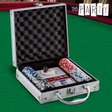 Set de Poker cu Servietă Luxe Th3 Party (100 jetoane)