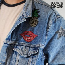 Patch-uri Brodate Junior Knows (pachet de 3)